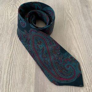 Vintage Lanvin Paris Paisley Men's Silk Tie
